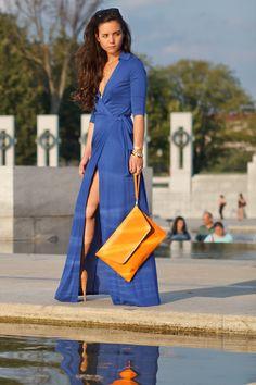 District Dress Up: Diane Von Furstenberg Abigail Wrap Dress
