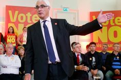 Better Together campaign leader Alistair Darling during a campaign event at Clydebank Town Hall in Scotland as the campaign ahead of the Scottish independence referendum enters its final days