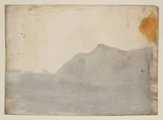 Lake Llanberis and Snowdon: Colour Study, 1799-1800 JMW Turner