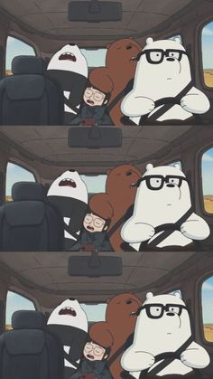 Cute Panda Wallpaper, Bear Wallpaper, Cute Disney Wallpaper, Kawaii Wallpaper, Wallpaper Iphone Cute, We Bare Bears Wallpapers, Panda Wallpapers, Cute Cartoon Wallpapers, Ice Bear We Bare Bears