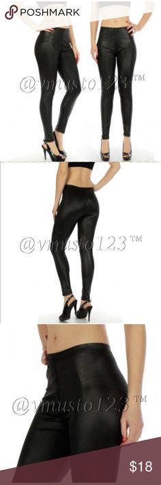 SEXY VEGAN LEATHER LEGGING - BLACK MEGA SEXY stretchy vegan leather legging.   Feels like absolute butter on your skin! Not overly shiny but not matte either. The perfect look!  Have (2) sizes: Regular (2-8) or Queen (10-14) SO stretchy & fits most heights Poly/Spandex blend. Cold water wash  Price is firm unless bundled  ✅SUPER FAST SHIPPING & GORGEOUS WRAPPING   ❗️PLEASE NOTE- Due to rising material costs, this closet no longer accepts previous customer discounts. Use bundle feature to…