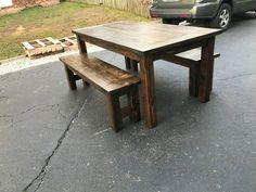 Farmhouse Tables - Into The Woods - Custom Farmhouse Tables | Into The Woods - Custom Farmhouse Tables Farmhouse Table For Sale, Outdoor Furniture, Outdoor Decor, Woods, Tables, Dining Table, Rustic, Home Decor, Mesas