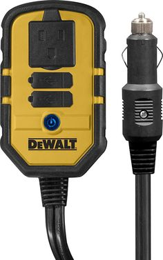 AmazonSmile: DEWALT DXAEPI140 140W Power Inverter: 12V DC to 120V AC Power Outlet with Dual USB Ports: Automotive