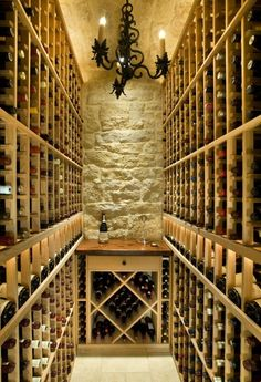 This wine cellar is gorgeous!