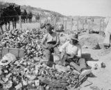 British soldiers making improvised grenades from jam tins filled with scraps of metal, barbed wire and shell fragments during the Gallipoli Campaign in Gallipoli Campaign, British Soldier, World War One, German Army, Ambulance, Egypt, Grenades, Hero, Barbed Wire