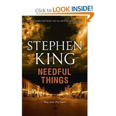 Stephen King - Needful Things <--- reading this now. it's good but I heard some really bad things happen in this story...