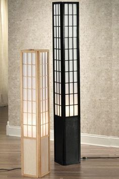 Shoji Floor Lamp - instructions at… Japanese Lighting, Japanese Lamps, Japanese Furniture, Asian Lighting, Japanese Table, Diy Floor Lamp, Japanese Bedroom, Lounge Lighting, Shoe Room