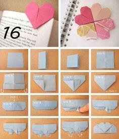 Origami Heart Bookmark <3