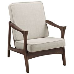 Canoe Lounge Chair in Brown from The Modern Source