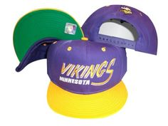 Minnesota Vikings PurpleYellow Two Tone Plastic Snapback Adjustable Plastic Snap Back Hat  Cap >>> For more information, visit image link.