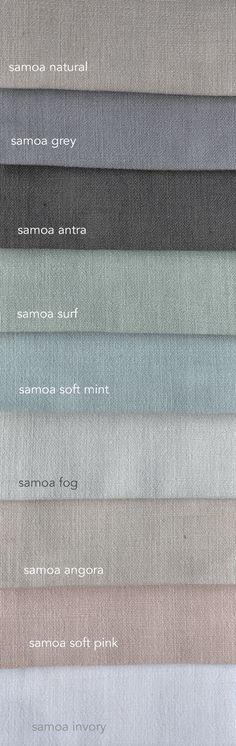 Samoa is een mooie stof met linnen. Daardoor ziet ie er mooi natuurlijk met alle praktische voordelen van polyester. Verkrijgbaar in vele kleuren. En supervoordelig €17,50 per meter! Vraag gratis stalen aan...