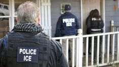 """Los Angeles officials say they want ICE officers to stop calling themselves """"police."""" When ICE officers do so, the officials say, it endangers public safety. ICE says it's a term that can mean life or death in dangerous situations."""