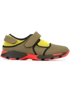 Shop Marni neoprene panelled sneakers.