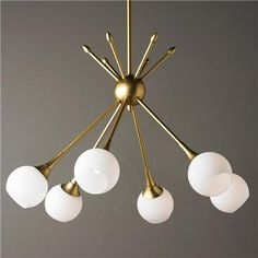 MidCentury Modern Mobile Chandelier 6 lt  Product SKU: CH14053 GL Price…