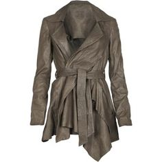 Leather with Flair. Love. Must have for Fall and Winter. Try to find a different color than black.
