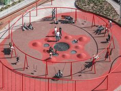 Image 46 of 47 from gallery of Park 'n' Play / JAJA Architects. Photograph by JAJA Architects Playground Design, Backyard Playground, Children Playground, Urban Furniture, Street Furniture, Parque Linear, Sport Park, Landscape Architecture Design, London Architecture