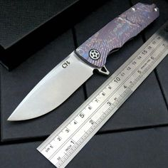 High quality bearing TC4 Titanium handle D2 blade knife hunting camping outdoor self-defense knife tactical army Survival knife