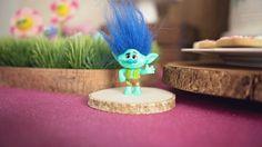 Trolls Figurine from a Trolls Inspired Birthday Party #trolls #trollsparty #trollspartydecorations