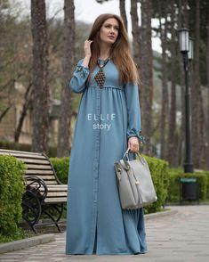 HUZUR SOKAĞI (Yaşamaya Değer Hobiler) Modest Wear, Modest Dresses, Modest Outfits, Casual Dresses, Abaya Fashion, Muslim Fashion, Fashion Dresses, Hijab Dress, Casual Hijab Outfit