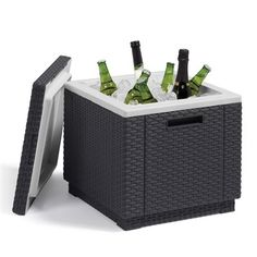 Trans-Continental Allibert California Ice Box Allibert California Ice Box Wicker ice box Suitable for indoor and outdoor use Measurements SQ. x H ...  sc 1 st  Pinterest & Outdoor Rattan Garden Storage Box in Truffle | GF RATTAN | Pinterest ...