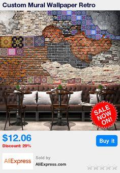 Custom Mural Wallpaper Retro Nostalgia Art Brick Wall Painting Living Room Restaurant Backdrop Damp-proof Non-woven Wall Paper * Pub Date: 02:02 Sep 13 2017