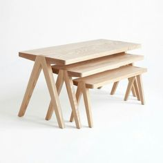 Summit Nesting Tables by Moving Mountains - Design Milk