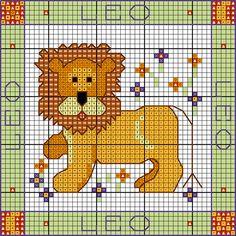 Zodiac Leo cross stitch chart