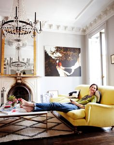 How we live - desire to inspire - desiretoinspire.net Jenna Lyons Brooklyn Brownstone