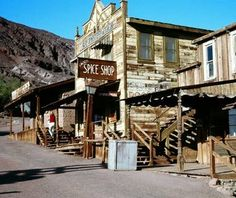 Calico, CA..This former silver-mining town in Southern California peaked in the 1880s, but started declining when the price of silver dropped in the 1890s. It was a ghost town by 1907. The town's restoration began in the 1950s, under the direction of Walter Knott, of Knott's Berry Farm fame. Today, Calico is a San Bernardino County Park.