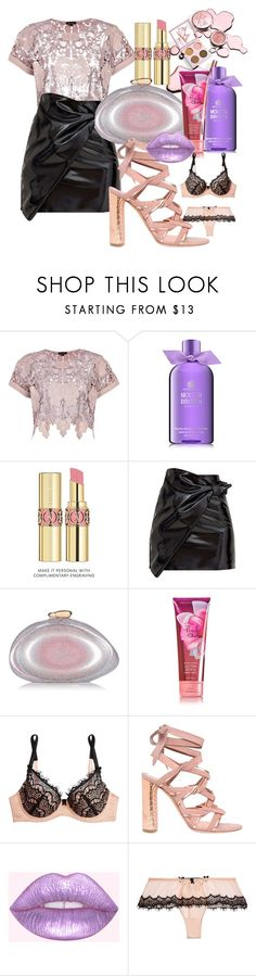 """Can we talk - Tevin Campbell"" by annabidel ❤ liked on Polyvore featuring River Island, Molton Brown, Yves Saint Laurent, Benedetta Bruzziches, Mimi Holliday by Damaris and Casadei"