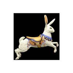 BARRANGO: Menagerie Carousel Animals rabbit jumping