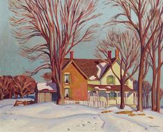 Farmhouse Winter by Alfred Joseph Casson on Curiator, the world's biggest collaborative art collection. Group Of Seven Artists, Group Of Seven Paintings, Canadian Painters, Canadian Artists, Ontario Art Gallery, Canada Images, Digital Museum, California Art, Collaborative Art