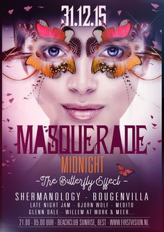 THU DEC 31ST 2015 | NYE | Masquerade Midnight | Beachclub Sunrise BEST NL | www.firstvision.nl