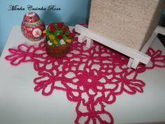 Minha Casinha Rosa: Toalhinha rosa em crochê