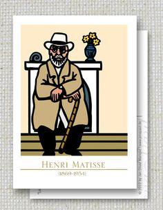 1 Henri Matisse portrait Postkarte von jenapaul von jenapaul