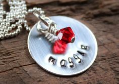 Personalized Name Necklace Hand Stamped - Mommy Jewelry by 2sistershandcrafted www.2sistershandcrafted.com