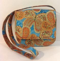 Elegant paisley butterfly cross body messenger by PenguinPouches, $37.95