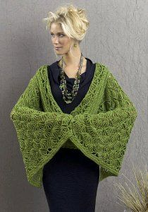 Geisha Jacket - Use this crochet jacket pattern to make your own geisha jacket. This crochet sweater features a wrap front and roomy sleeves for a geisha-like effect.