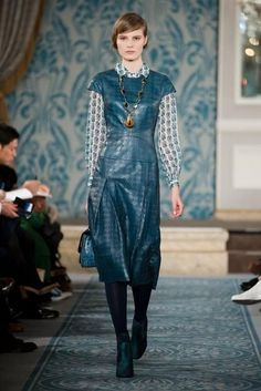 Tory Burch Prepdom Meets Lady Mary Elegance for Fall 2013 - NYFW Fall 2013 - Racked National
