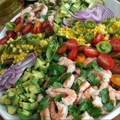 Cilantro Garlic Lime Shrimp Salad with Roasted Corn & Jalapeños {with Clean Homemade Salad dressing!}
