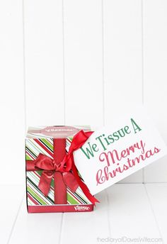 "Perfect inexpensive gift for teachers! ""We Tissue a Merry Christmas"""