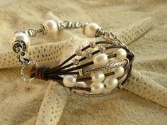 Leather and Pearls...love it