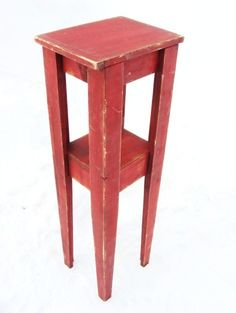 Plant Stand Corner Table Red Wood French by baconsquarefarm, $125.00 - Maybe when the kids are older