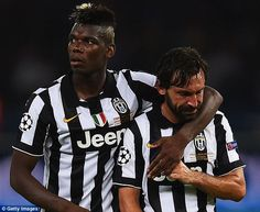Paul Pogba and Andrea Pirlo were in the Juventus side that lost to Barcelona in 2015
