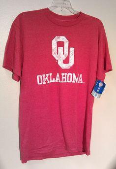 NEW/NWT OU Oklahoma Sooners T-shirt Distressed Look Asst Sizes NCAA  #MajesticSection101 #OklahomaSooners #OU #OklahomaUniversity