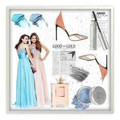 """""""Evening Dress With Beading"""" by johnnymuller on Polyvore featuring Mineral Essence, NARS Cosmetics, Origins, Bobbi Brown Cosmetics and Francesco Russo"""