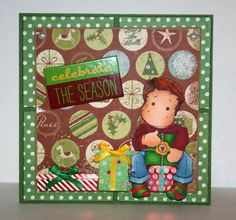 Adorable handmade Merry Christmas card by rbowen on Etsy