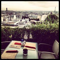 Paris - The 7th, terrass hotel. Nær Sacre Coeur