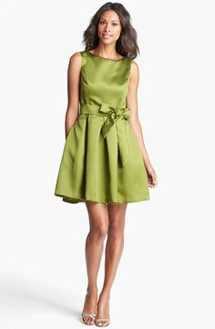 Isaac Mizrahi New York Mikado Fit & Flare Dress on shopstyle.com