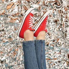 Every closet needs a pair of red Chuck Taylor All Stars. Red Chucks, Converse Style, Converse Shoes, Converse Chuck Taylor All Star, Chuck Taylor Sneakers, Chuck Taylors, Converse Photography, All Star Shoes, Star Wars